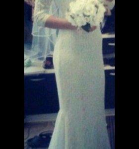 Свадебное платье.Фата в подарок