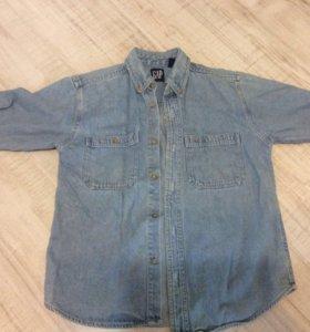 Джинсовая рубашка размер М (8-10 лет)