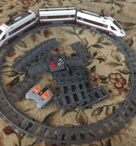 Скоростной поезд Лего +доп пути