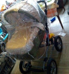 коляска-трансформер+пакет вещей