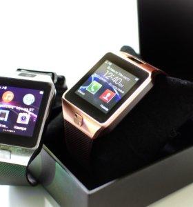 Умные часы –телефон Smart Watch DZ-09, Новые