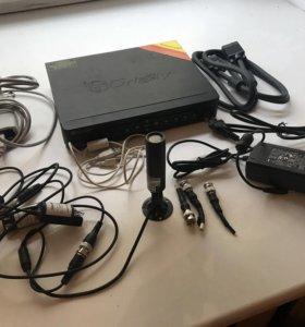 База для видеонаблюдения+ (провода и Камера )