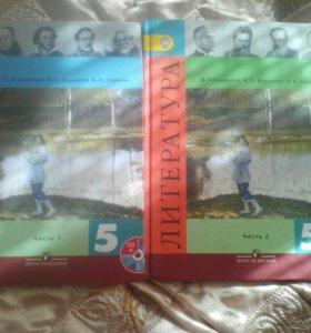 Книга по Литературе за 5класс две части.