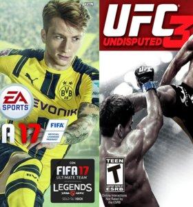 Xbox 360 - игры UFC 3 FIFA 17 INJUSTICE и другие