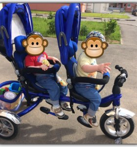 Велосипед для двойни Capella Twin Trike 360