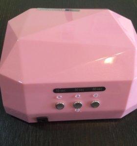 Новая гибридная лампа 36 Вт для маникюра розовая