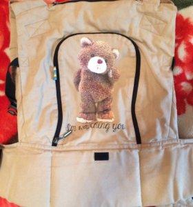 Эргорюкзак (эрго рюкзак) I love mum