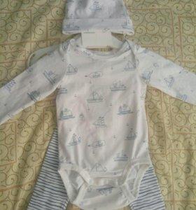 Комплект на новорожденного H&M + подарок