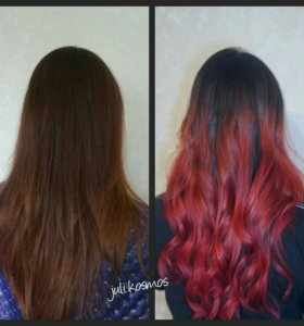 Яркое окрашивание волос (антоцианин, crazy color)