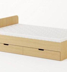 Кровать с ящиками 1200 (без матраса)