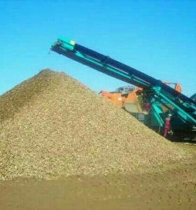 Щебень, песок, грунт