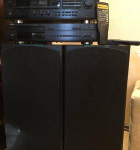 Колонки Jbl lx 5, проигрыватель cd Yamaha cdx-490