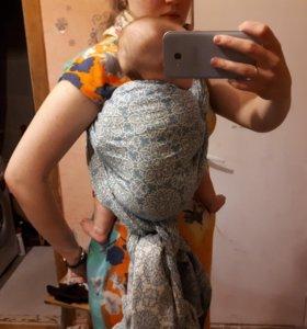 Слинг-шарф хлопковый