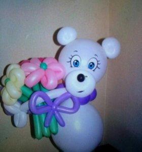 Мишка 390 руб. С цветами 490 руб.