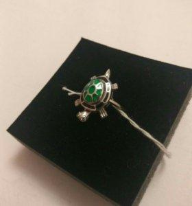 Кольцо Черепаха серебро