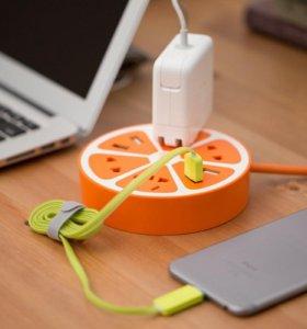 Яркий удлинитель с USB портами