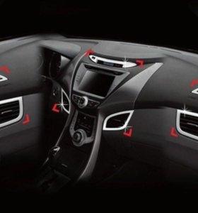 Hyundai Elantra, Avante MD хром накладки салона