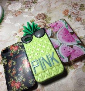 Чехлы iPhone 4,5(s), Alcatel, HTC