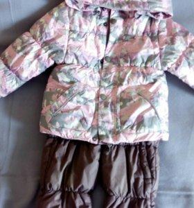 Костюм зимний Huppa, б/у, размер 80-86
