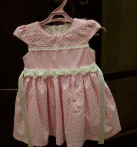 Нарядное платье для девочки, размер 86