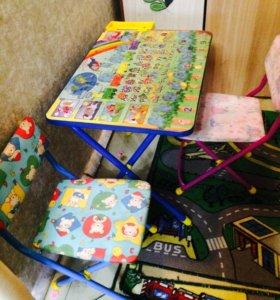 Детский столь и стульчик