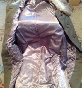 Пальто новое зимнее с мехом р 48-50