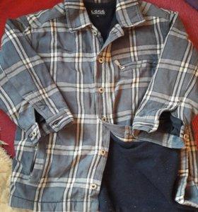Рубашка на флисовой подкладке