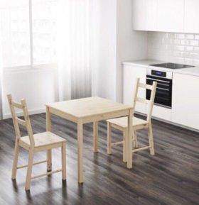 Стол кухонный и 3 стула ИКЕА