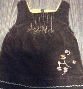 Платье детское утеплённое вельвет