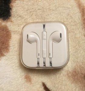 Наушники Apple, новые оригинальные, в пленке.