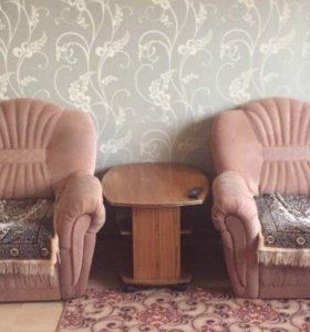 мягкий уголок ( 2 кресла кровати и диван кровать)