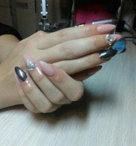 Гель-лак,коррекция,наращивание ногтей