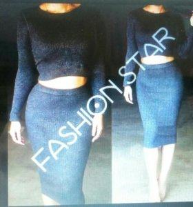 Новый комплект юбка+ топ