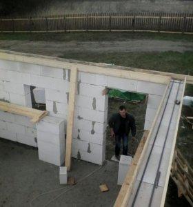 Армопояс и бетонные работы
