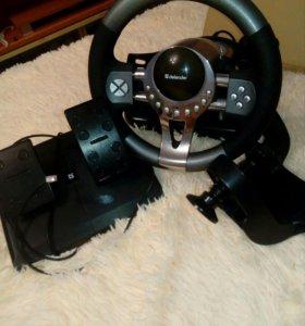 Игровой руль и педали на ПК