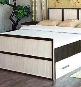 Кровать 140/200 с ящиками. С матрасом!