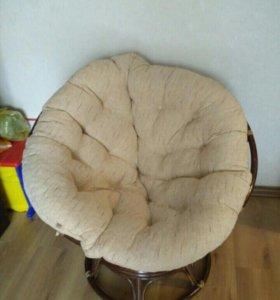 Кресло - качалка Папасан плетеное из ротанга