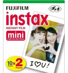 Плёнка  Fujifilm Instax Mini, кассеты