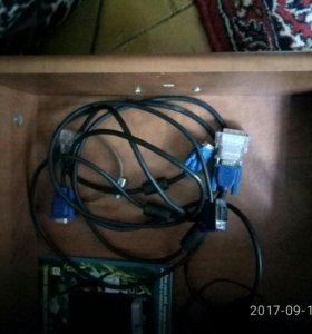 Монитор ,жесткие диски,и кабеля,и коробка кейс
