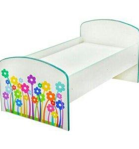 Детская кроватка «Цветочки»,