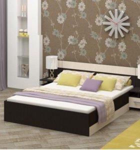 Кровать Бася - 3 с матрасом и тумбами