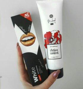 Зубная паста и антицеллюлитный гель