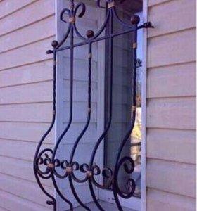 Кованая решётка для окна