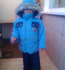 Комбинезон зимний с шапочкой