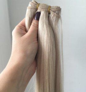 Волосы на трессе 55 см