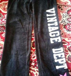 Спортивные велюровые брюки