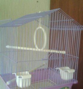 Клетка для попугая+корм