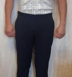 Мужская белая рубашка slim fit с коротким рукавом