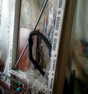 Балконная дверь с коробкой без стеклопакета.