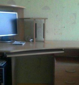 Стол компьютерный со встроенной тумбой(3 ящика)